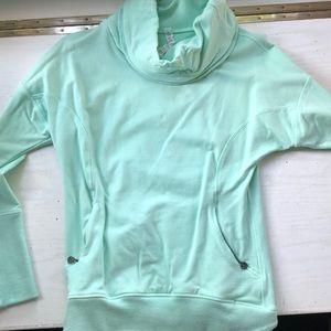 Lululemon aqua thick necked sweatshirt
